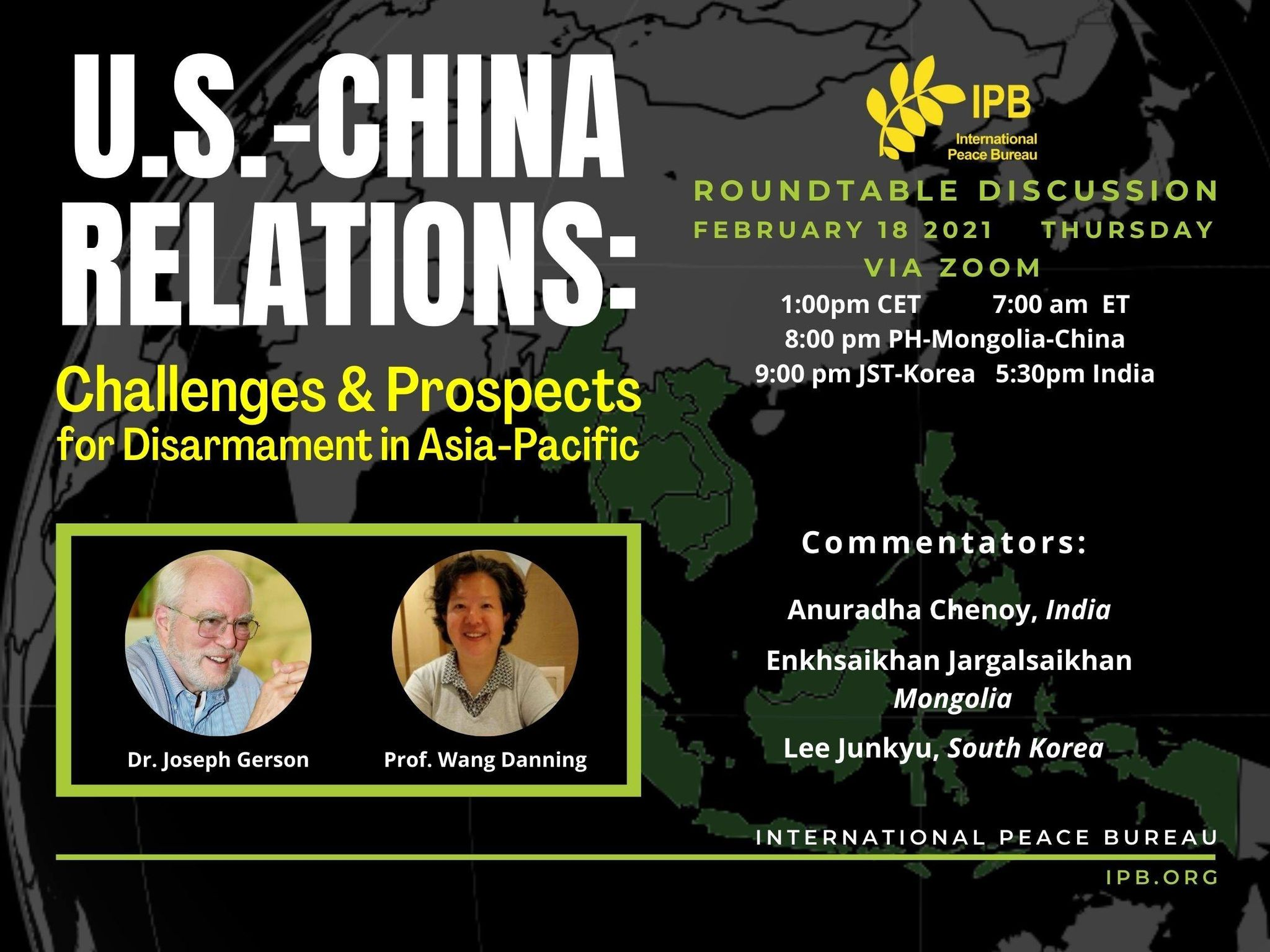 US-China Relations: Challenges & Prospects for Disarmament in Asia-Pacific