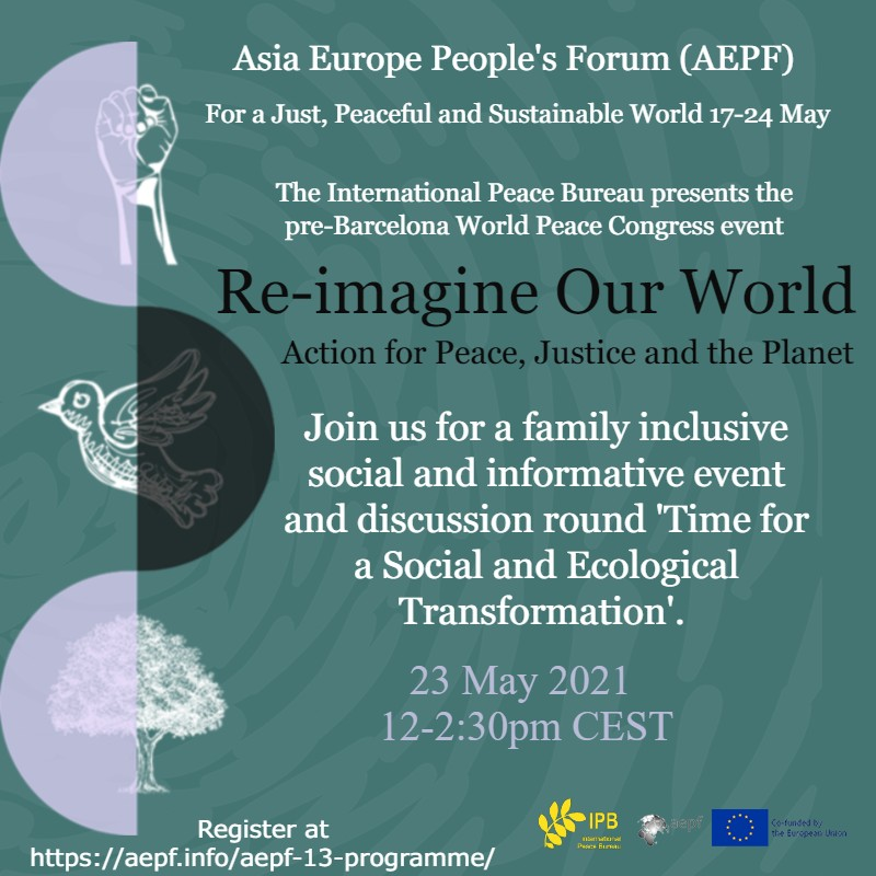 IPB x AEPF 13: Re-Imagine Our World: Action for Peace & Justice
