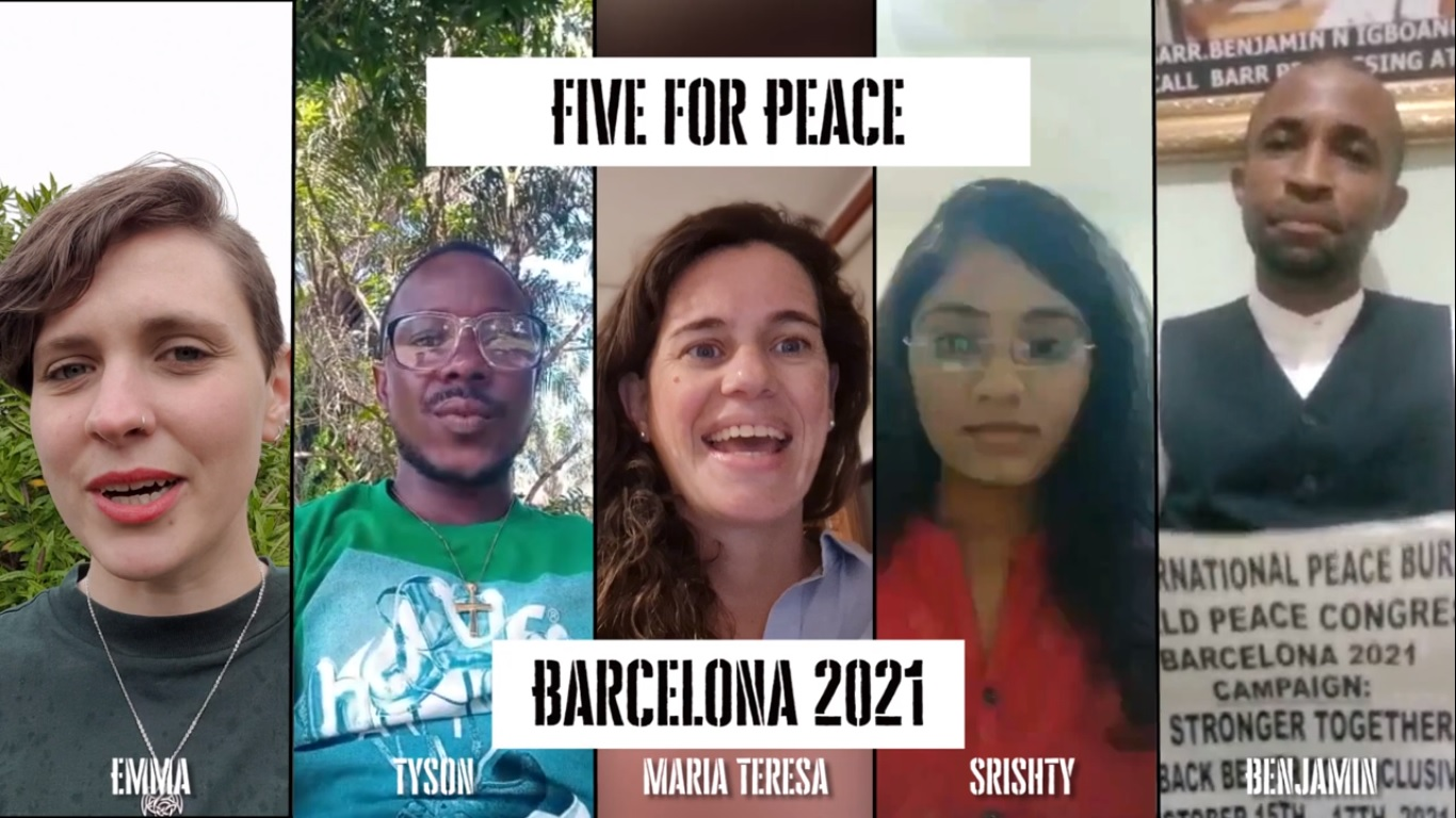 Support Our Crowdfunding Campaign #FiveForPeace!